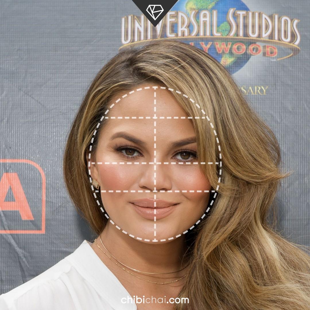 rostro redondo cara redonda Chrissy Teigen