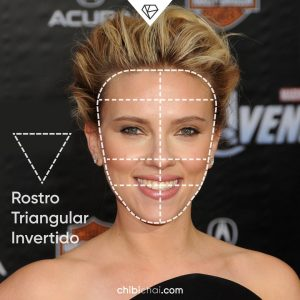 rostro triangular invertido cara triangular invertida Scarlett Johansson