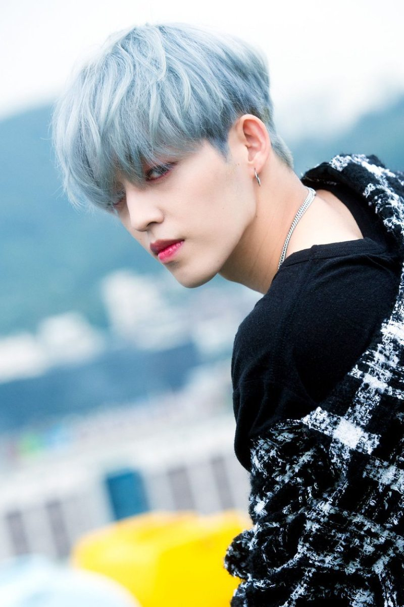 cabello color azul metalico SCoups Choi Seung Cheol